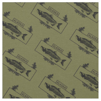 Subdued Alaska Combat Fisherman Badge Fabric