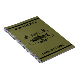 Subdued Alaska Combat Fisherman Badge Notebook
