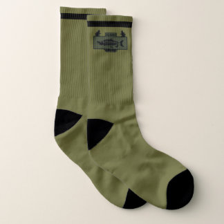 Subdued Alaska Combat Fisherman Badge Socks