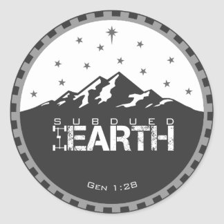 Subdued Earth Round Logo [Small] Stickers