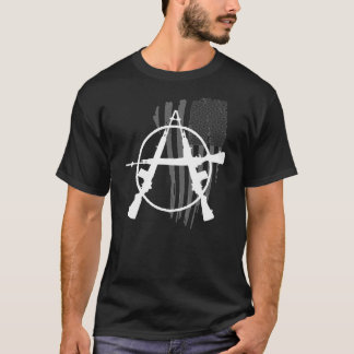 subdued flag Anarchy Free Market Voluntaryism Guns T-Shirt