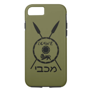 Subdued Maccabee Shield And Spears iPhone 7 Case
