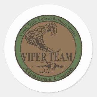 Subdued Viper Team Patch Round Sticker