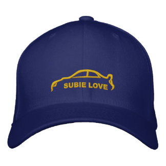 Subie Love Royal Blue with Gold Silhouette Embroidered Hat