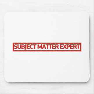 Subject Matter Expert Stamp Mouse Pad