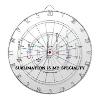 Sublimation Is My Specialty Chemistry Attitude Dartboard