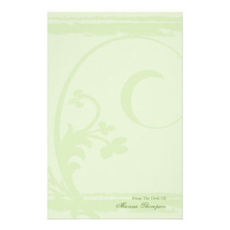 Sublime Green Grunge Personal Stationery