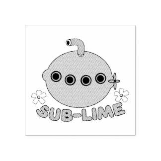 Sublime Sub Lime Rubber Stamp