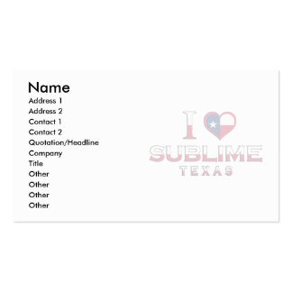 Sublime, Texas Business Cards