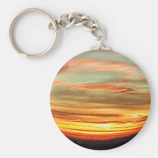 Sublimity Oregon Sunset Keychain