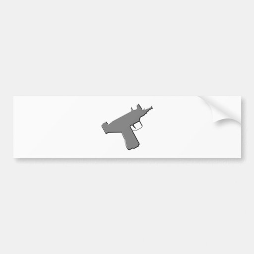 Submachine gun machine pistol Uzi Bumper Stickers