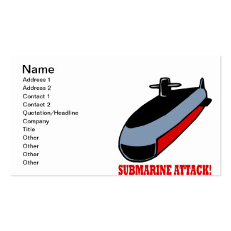 Submarine Attack Business Card Template