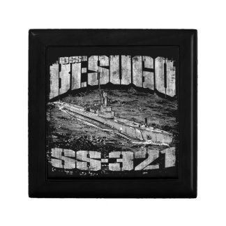 Submarine Besugo Wooden Jewelry Keepsake Box