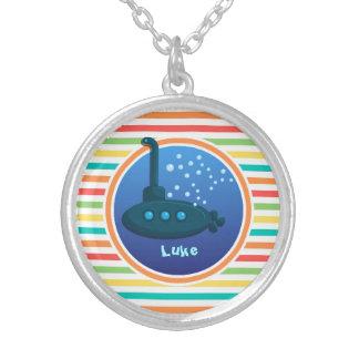 Submarine Bright Rainbow Stripes Custom Jewelry