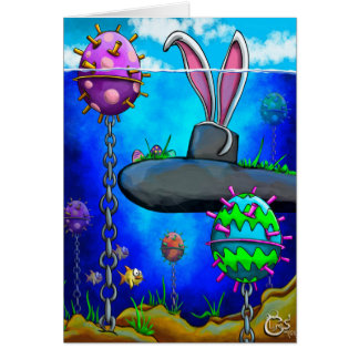 Submarine Easter Card
