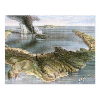 Submarine Volcano Island of Santorini Postcard