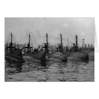 Submarines Ready for Action, 1911 Greeting Card