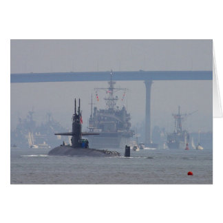 Submarines Subs Nuclear Ships Navy Greeting Card