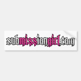 subMISSIon Web Bumper Sticker