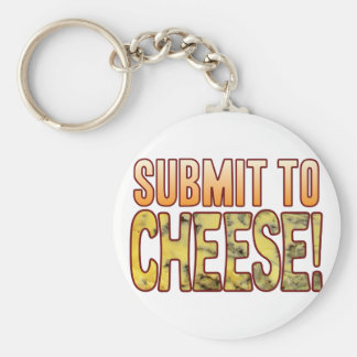 Submit To Blue Cheese Basic Round Button Key Ring