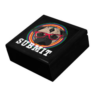 Submit to the Pug Large Square Gift Box