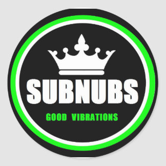 SubNubs_GoodVibrations Classic Round Sticker