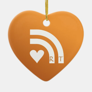 Subscribed To Your Valentines Heart Pendant Ceramic Heart Decoration