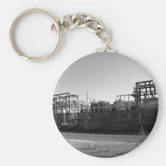 Substation Basic Round Button Key Ring