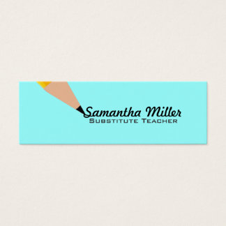 Substitute Teacher Skinny Business Cards