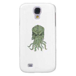 Subterranean Sea Monster Head Drawing Samsung Galaxy S4 Case