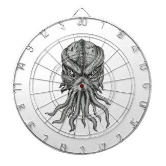 Subterranean Sea Monster Head Tattoo Dartboard