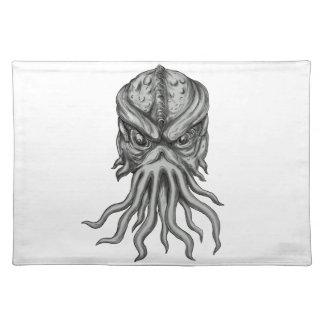 Subterranean Sea Monster Head Tattoo Placemat