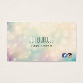 Subtle Bokeh Business Card Design