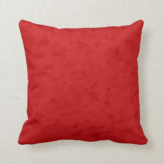Subtle Bright Red Pattern Throw Pillow