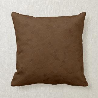 Subtle Brown Pattern Throw Pillow