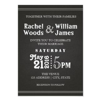 Subtle Chalkboard | Wedding Invitation