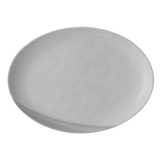 Subtle Charcoal Porcelain Serving Platter