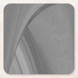 Subtle Charcoal Square Paper Coaster