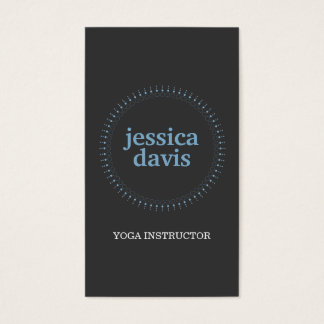 SUBTLE CIRCLE in BLUE/DK GRAY  Business Card