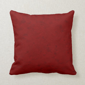 Subtle Dark Red Pattern Throw Pillow