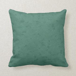 Subtle Emeral Green Pattern Throw Pillow