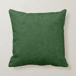 Subtle Forest Green Pattern Cushion