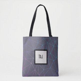 Subtle Geometric Lines Crisscross Tote Bag