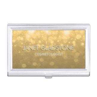Subtle Gold Bokeh Glitter Lights Card Case