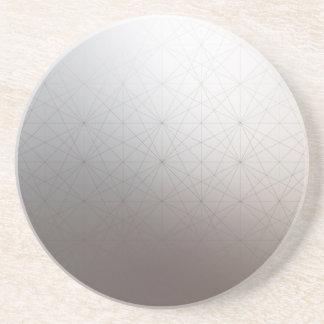 Subtle Gradient Color Geometry Line Grid Coasters