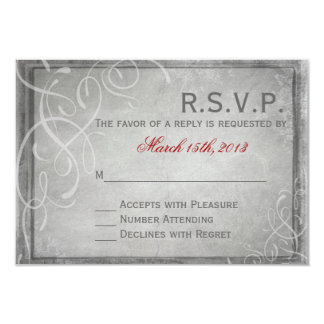 Subtle Grey Elegance - RSVP Card