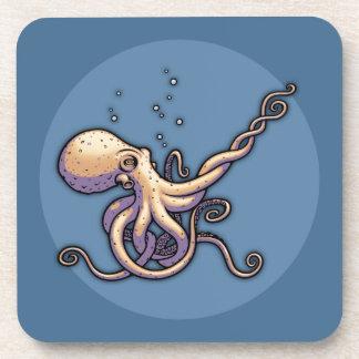 Subtle Guitar Octopus Coaster