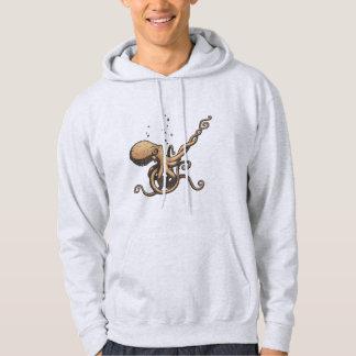 Subtle Guitar Octopus Hoodie
