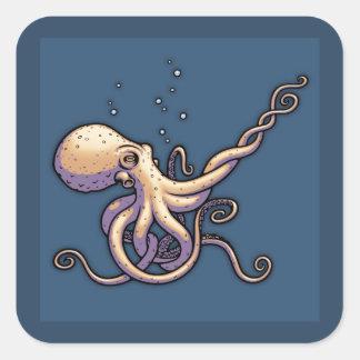 Subtle Guitar Octopus Square Sticker
