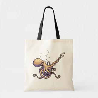 Subtle Guitar Octopus Tote Bag